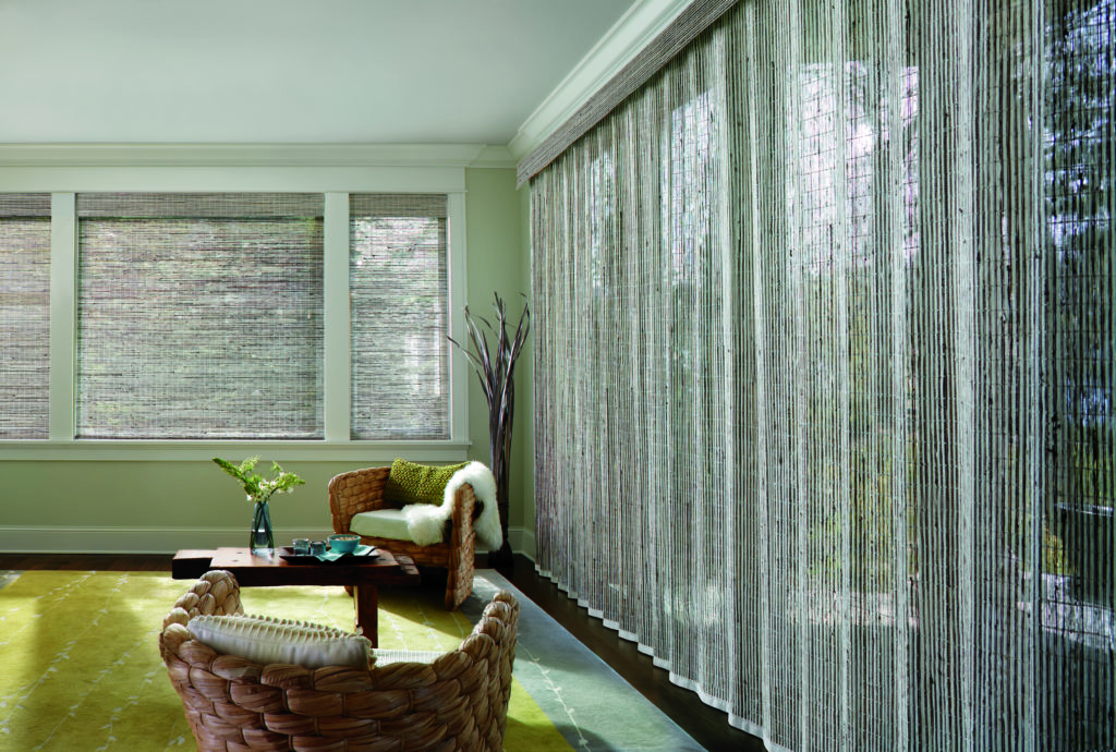 Motorized drapery and shading hunter douglas