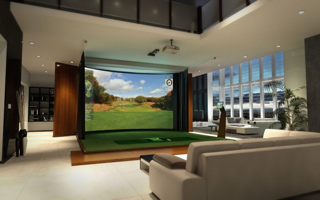 high end indoor Golf simulator