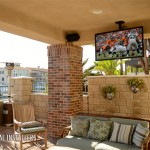Patio TV and Speakers Long Beach